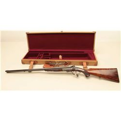 Beautiful Rigby exposed hammers double rifle, factory restored recently (fresh),