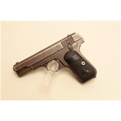 Colt Model 1903 hammerless semi-automatic pistol, .32 caliber, 3.75 barrel,