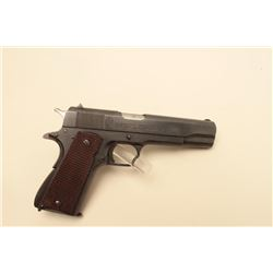 Argentine Model 1927 semi-automatic pistol, 11.25mm caliber, 5 barrel, blued