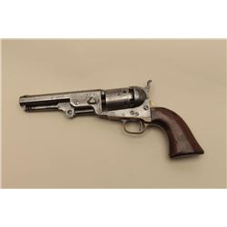 Colt Model 1851 Navy percussion revolver, .36 caliber, barrel cut