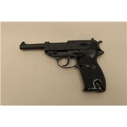 Walther Model P-100 semi-auto pistol, 9mm caliber, Serial #180348. The