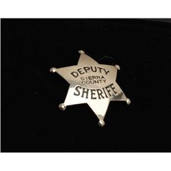 Vintage 6 point star with ball tips badge marked Deputy/Sierra