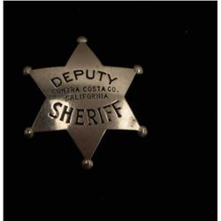 Vintage 6 point star with ball tips badge marked Deputy/Contra
