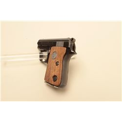 Colt .25 caliber semi-automatic pistol, 2 barrel, blued finish, checkered