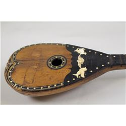 Early 19th century Lute, inlaid wood body, some damage. Est:$150-300