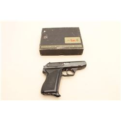 HK Model 4 semi-automatic pistol, 7.65mm caliber, 3.25 barrel, blued