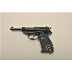 Walther Model P-38 semi-automatic pistol, 9mm caliber, 5 barrel, black
