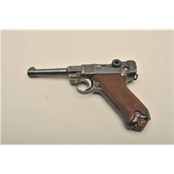 Luger by DWM semi-automatic pistol dated 1916, 9mm caliber, 4
