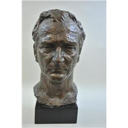 Original Bronze Bust signed Ferenc Varga of Del Rey Beach,