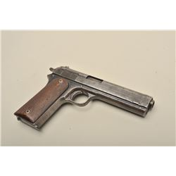 Colt Model 1905 semi-automatic pistol, .45 Rimless caliber, 5 barrel,