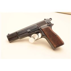 FN Browning High Power semi-automatic pistol, nazi-marked, 9mm caliber, 4.75