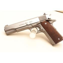 AMT Government Model semi-automatic pistol, .45 caliber, 5 barrel, stainless