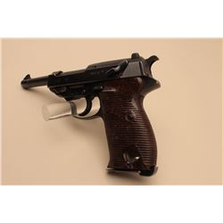 P-38 semi-automatic pistol marked byf 44, 9mm caliber, 4.75 barrel,