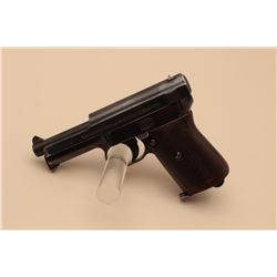 Mauser pocket semi-automatic pistol, .32 caliber, 3.5 barrel, blued finish,