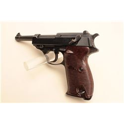 Walther P-38 semi-automatic pistol (coded ac 44), 9mm caliber, 4.75