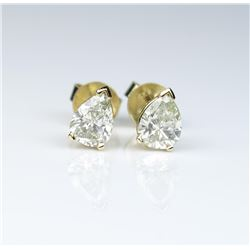 Exquisite matching Pear shape Diamonds weighing 1.30 carats of H-I