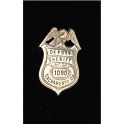 Vintage American Eagle over shield badge marked Deputy Sheriff/1090/Sacramento Co.