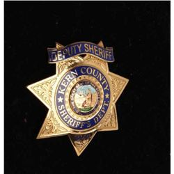 Kern County Deputy Sheriff 7 point star badge, #S150; hallmarked