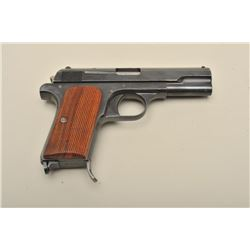 Femaru Model 37 semi-automatic pistol, 9mm caliber, 3.75 barrel, blued