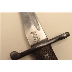 Lot of 3 Spanish bayonets; two with sheaths. Est.: $125-$250.