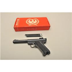 Ruger Mark I semi-automatic pistol, .22LR caliber, 5.5 barrel, blued
