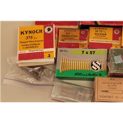 Bonanza lot of vintage ammunition. The lot includes vintage boxes