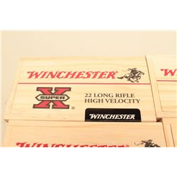 Four Limited edition wood boxes of Winchester Super X .22