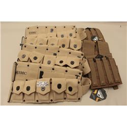 Lot of 7 modern canvas web type ammo pouches, some