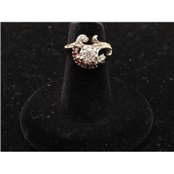 ladies ring 14k white gold set with a 0.60ct diamond