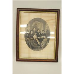 Lithograph Gen. Grant and family 1869 by John Dainty by