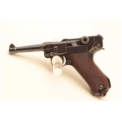 1920 Commercial Luger semi-automatic pistol, .30 caliber, 4 barrel, blued