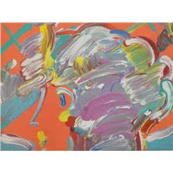 Signed and certified original oil on canvas by Peter Max,