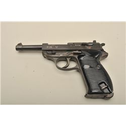 P.38 DA semi-automatic pistol marked byf 44, 9mm caliber, 3.75