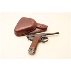 Japanese Nambu semi-automatic pistol, 8mm caliber, 4.5 barrel, blued finish,