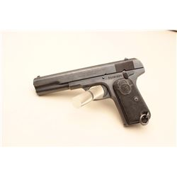 Husqvarna semi-automatic pistol, 5 barrel, mat black finish, checkered hard