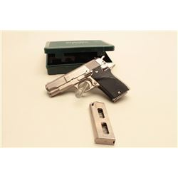 Star PD Model semi-automatic pistol, .45 caliber, 4 barrel, brushed