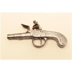All steel Segalis style cannon barrel center hammer flintlock pocket