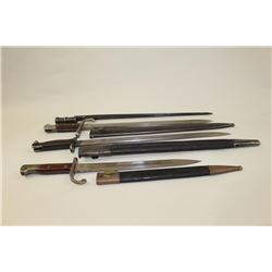 Lot of 4 bayonets as described: 1. Enfield 1907 dated and