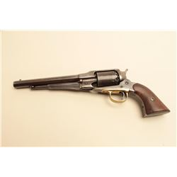 Remington Model 1858 revolver in .44 caliber percussion remaining in