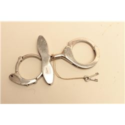 Scarce Pratts Combination handcuffs/come-alongs with 2 keys; marked Patd Nov.