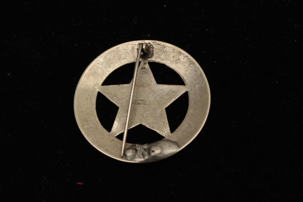 Vintage 5 Point Star In Circle Badge Marked Deputy Sheriffplacer
