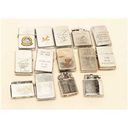 14-Zippo lighters as a lifetime collection, Korea to Vietnam, most