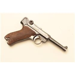 Luger dated 1918 by Erfurt Arsenal in 9mm, S/N 9038m.