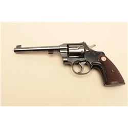 Colt Officers Model .22 caliber Target revolver with 6 barrel,