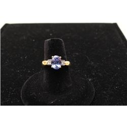 One ladies ring in 18k yellow gold set with a