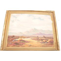 Fine California oil painting, Point Happy  Near Palm Springs 15 by 20 inches. Oil