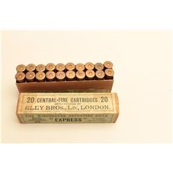 Full box 50-95 Express by Ely. Marked model Centennial 1876
