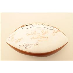 Vintage Wilson autographed football with Don Maynard, Ron Yary and