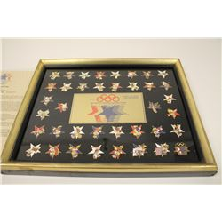 Framed limited edition Series No. 2 collector set of Official