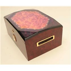 Nice wooden humidor (no key); approximately 13 wide x 6
